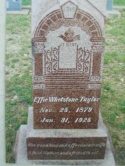 Effie <I>Whetstone</I> Taylor