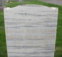 Antonette Matilda <I>Christensen</I> Hansen
