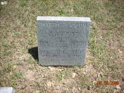 Mattie B. <I>Crum</I> Scott