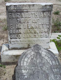 Elizabeth Ann <I>Davis</I> Bennett