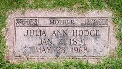 Julia Ann <I>Hodges</I> Hodge