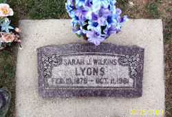 Sarah Janette <I>Wilkins</I> Lyons
