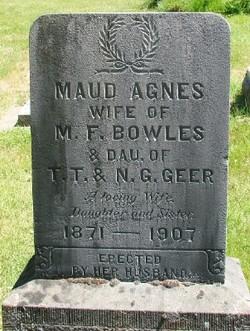 Maud Agnes <I>Geer</I> Bowles
