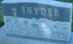 Bertha <I>Watkins</I> Snyder