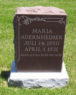Maria <I>Pletscher</I> Auernheimer