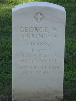 TSGT George W Birkinsha