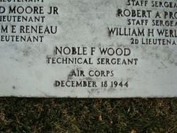 TSGT Noble F Wood