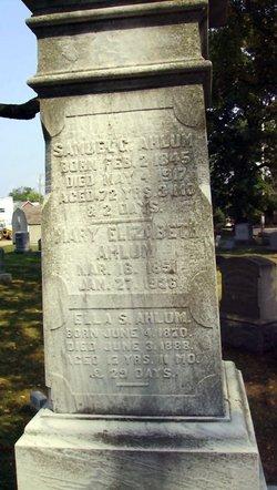 Mary Elizabeth <I>Stoneback</I> Ahlum