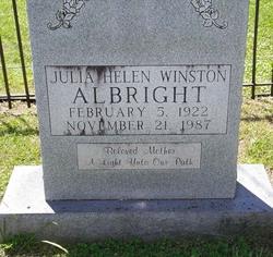 Julia Helen <I>Winston</I> Albright