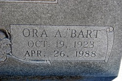"Ora Alexander ""Bart"" Bartlett"