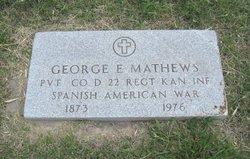 Pvt George Elmer Mathews