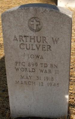 Arthur W Culver