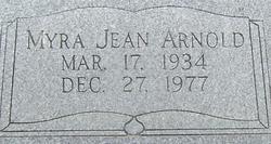 Myra Jean <I>Bowden</I> Arnold