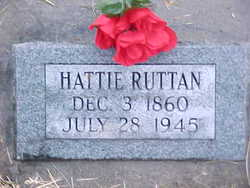 Hattie <I>Vandervort</I> Ruttan