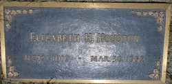 "Elizabeth A. ""Betty"" <I>Hill</I> Houston"