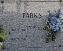 Donald J Parks
