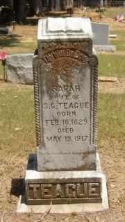 Sarah Jane <I>McCall</I> Teague