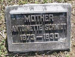 Antoinette <I>Bader</I> Schmidt