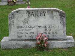 Maude Lee <I>Cole</I> Bailey