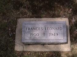 Frances <I>Jackson</I> Leonard