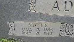 Mattie Leeana <I>Goss</I> Adams