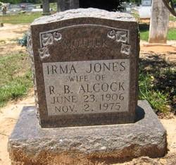 Irma <I>Jones</I> Alcock
