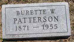 Burette W Patterson
