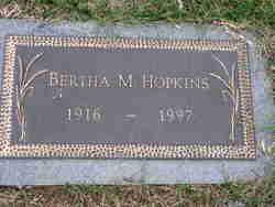 Bertha M Hopkins