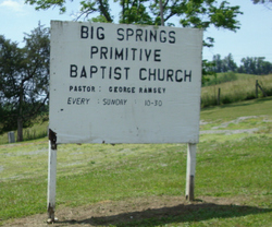 Big Springs Primitive Baptist Church Cemetery