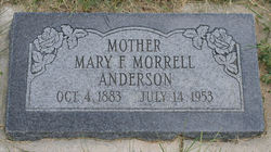 Mary Frances <I>Morrell</I> Anderson