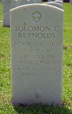 Pvt Solomon Creasy Reynolds