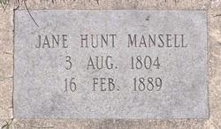 Jane <I>Hunt</I> Mansell