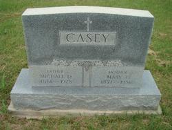 """Mary Jane """"Molly"""" <I>O'Brien</I> Casey"""