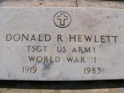Sgt Donald Rex Hewlett