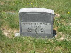 Minnie <I>Thompson</I> Parker