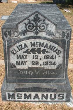 Eliza <I>White</I> McManus
