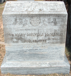 Mary Melvina <I>Brock</I> McManus