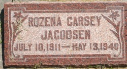 Elizabeth Rozena <I>Carsey</I> Jacobsen