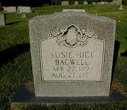 Susie <I>Hice</I> Bagwell