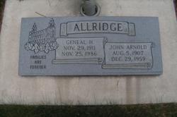 Geneal <I>Hadfield</I> Allridge