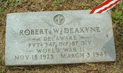 Pvt Robert Warren Deakyne