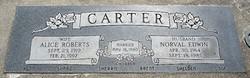 Alice <I>Roberts</I> Carter