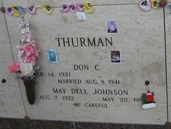 May Dell <I>Johnson</I> Thurman
