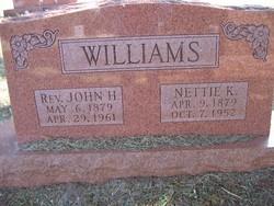 Nettie Kansas <I>Bratcher</I> Williams