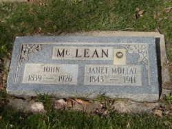 Janet <I>Moffat</I> McLean