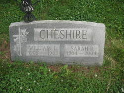 Sarah I <I>Williams</I> Cheshire
