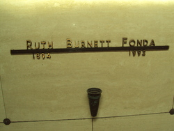 Ruth <I>Burnett</I> Fonda