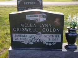 Melba Lynn <I>Criswell</I> Colon