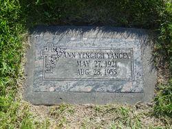 Anne <I>Yengich</I> Yancey