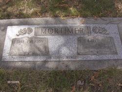 Jane <I>Emerson</I> Mortimer